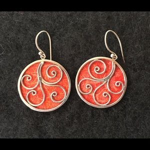 Jewelry - Sterling silver and authentic stone earrings